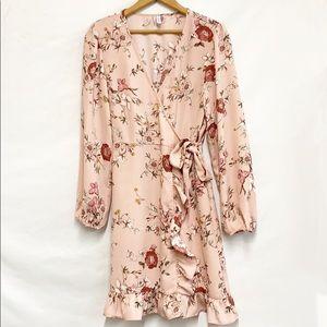 Xhilaration Floral Faux Wrap Dress